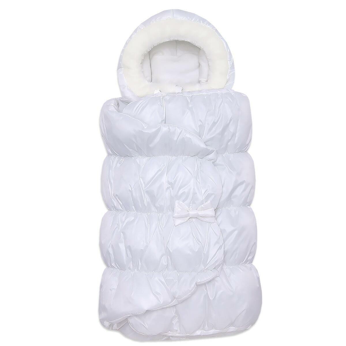 Конверт-кокон Бамбино, зима, молочный