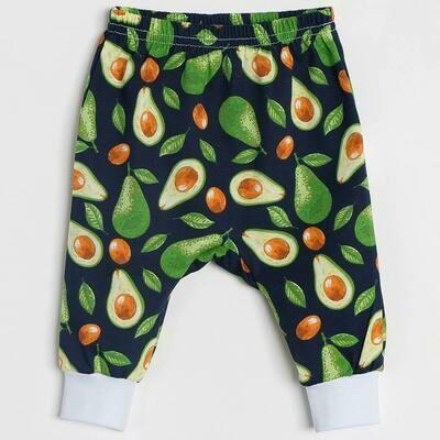 Штанишки на манжетах, тонкий трикотаж, авокадо