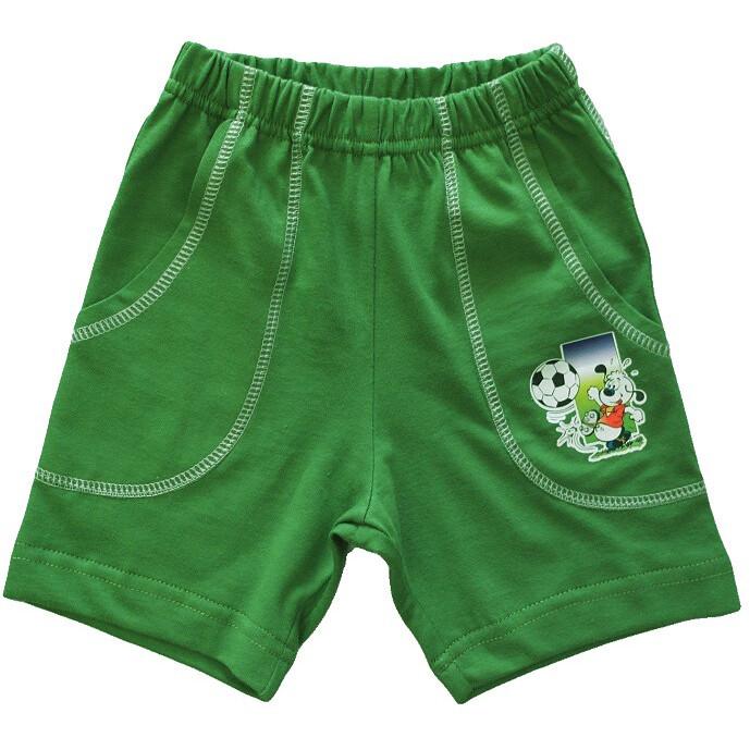 Шорты с накладными карманами, зелёные хаки