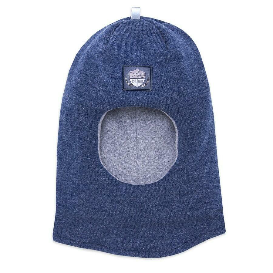 Шапка-шлем Эльф, зима, синий