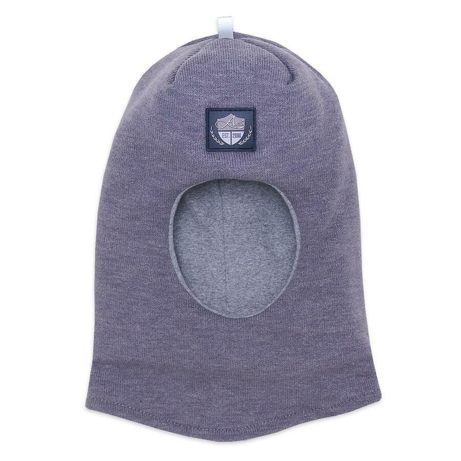 Шапка-шлем Эльф, зима, серый