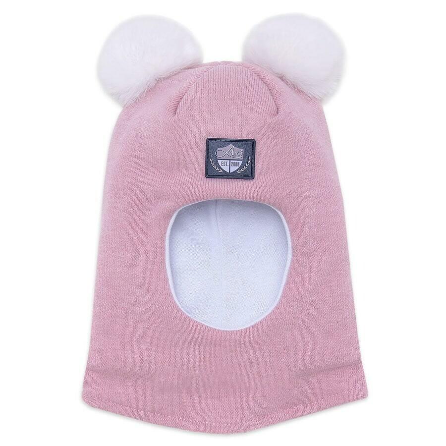 Шлем Фея, зима, розовый