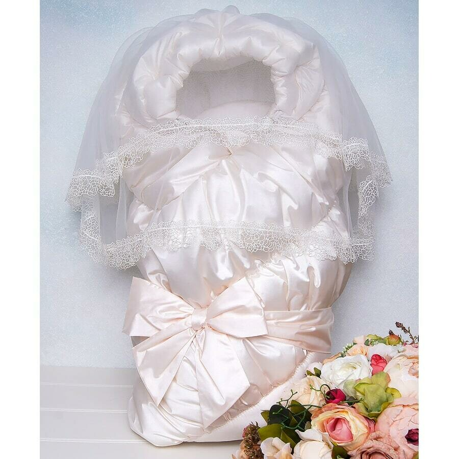 Одеяло на выписку Торжество, зима, жемчужный