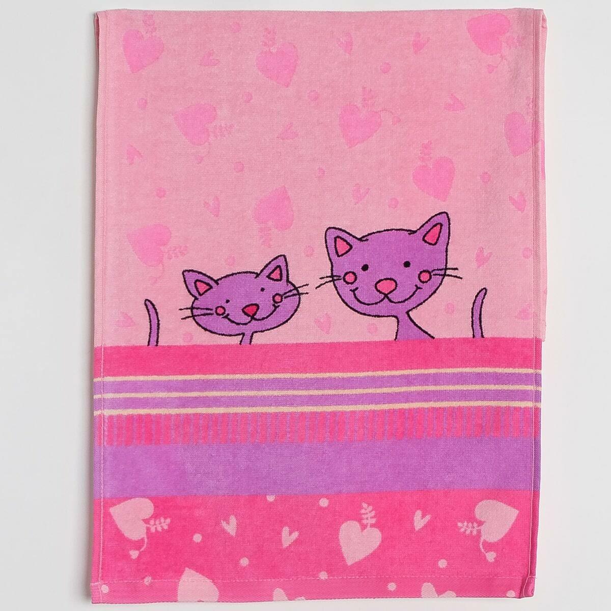Махровое полотенце, Кис-кис, 33*70 см