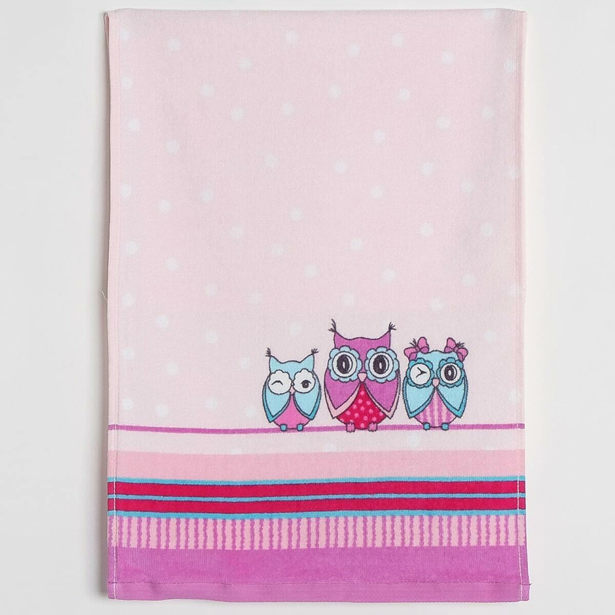 Махровое полотенце, Совушки, 33*70 см