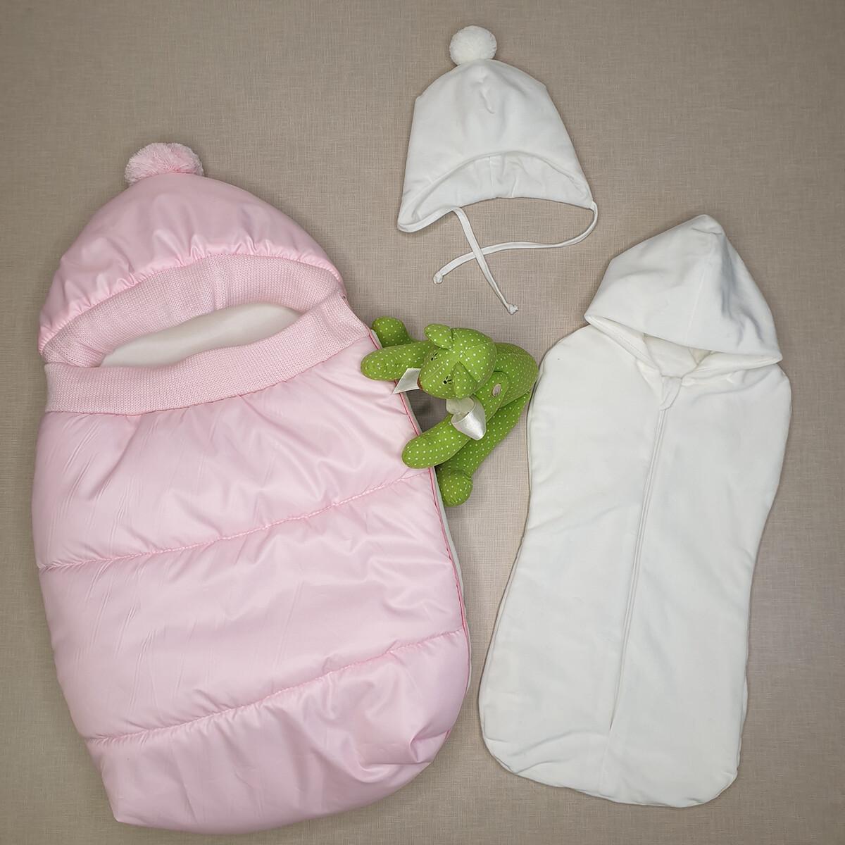 Конверт прогулочный «Дутик», (демисезон/зима), розовый