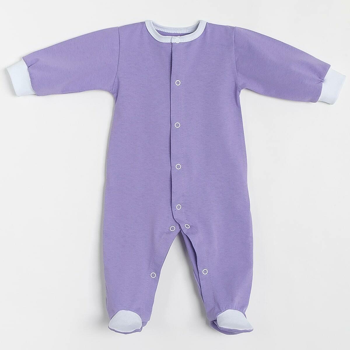 Комбинезон СКАЗКА, кнопки по всей длине, тонкий трикотаж, фиолетовый