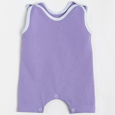 Песочник, кнопки под памперс, тонкий трикотаж, фиолетовый