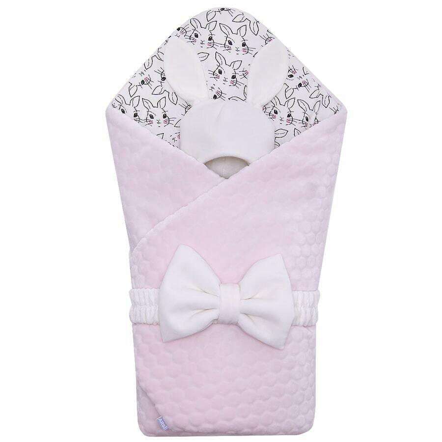 Комплект на выписку Мамина зайка, демисезон, розовый