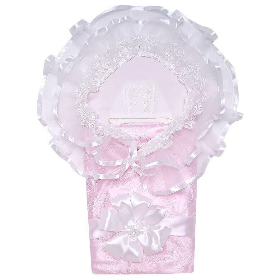 Комплект на выписку SKAZKA, лето, розовый