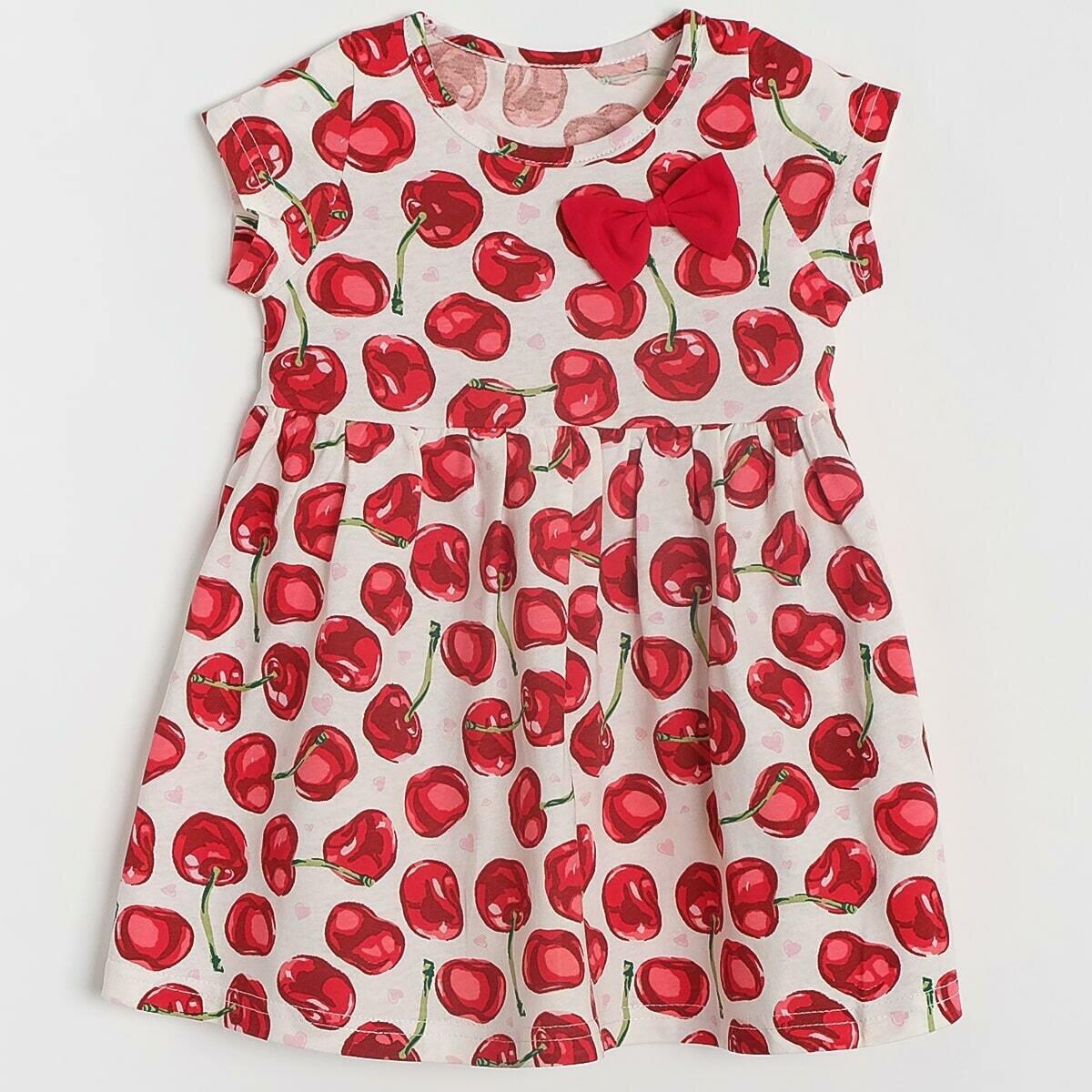 Платье, кулирка, вишня