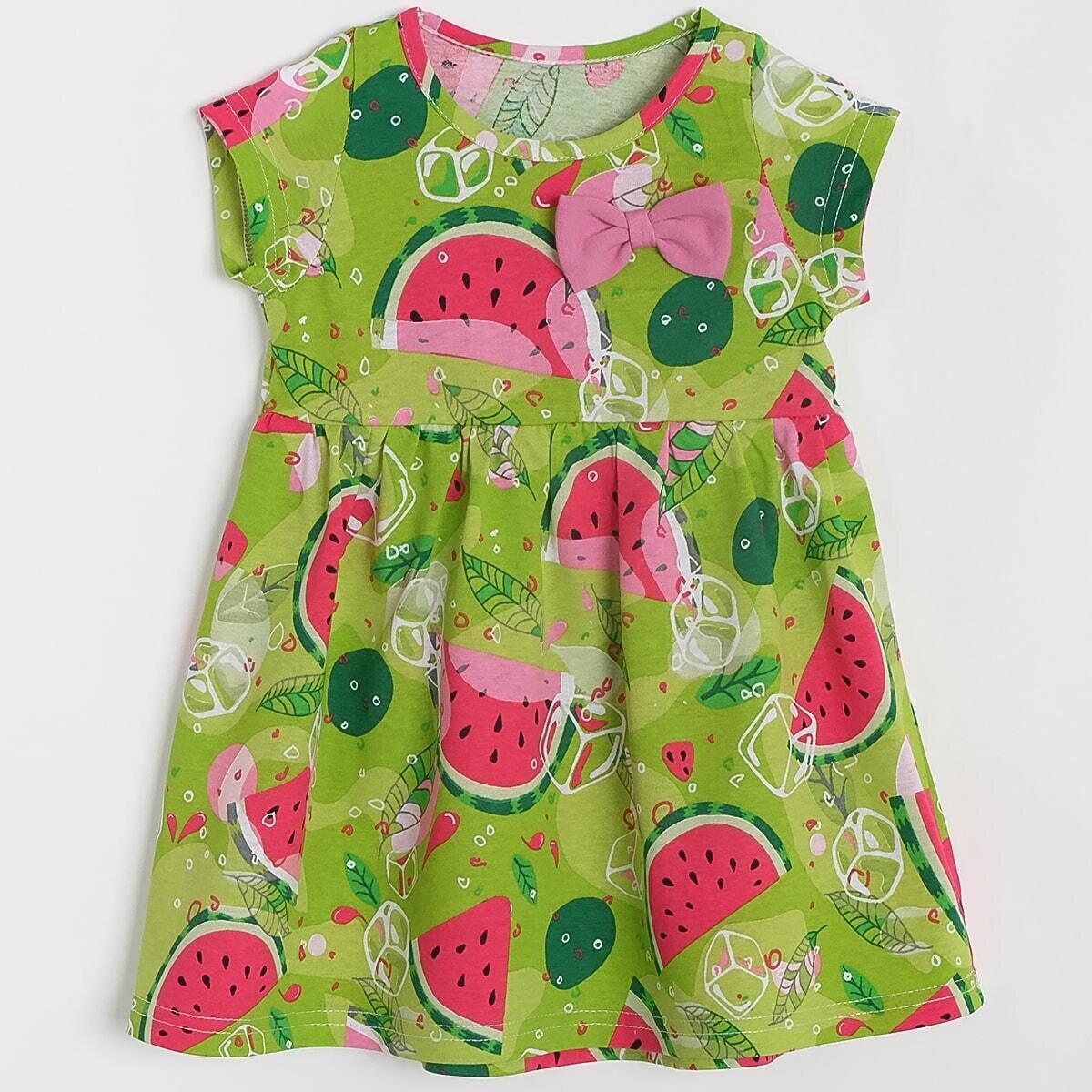 Платье, кулирка, арбузы