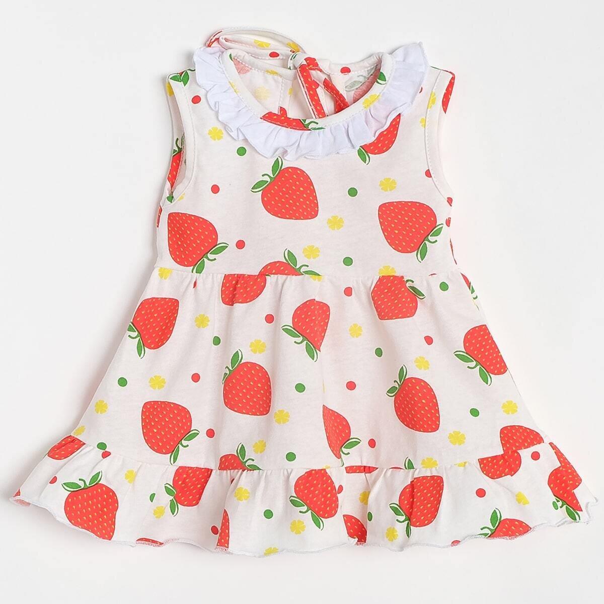 Платье ЛЕНА, тонкий трикотаж, клубничка