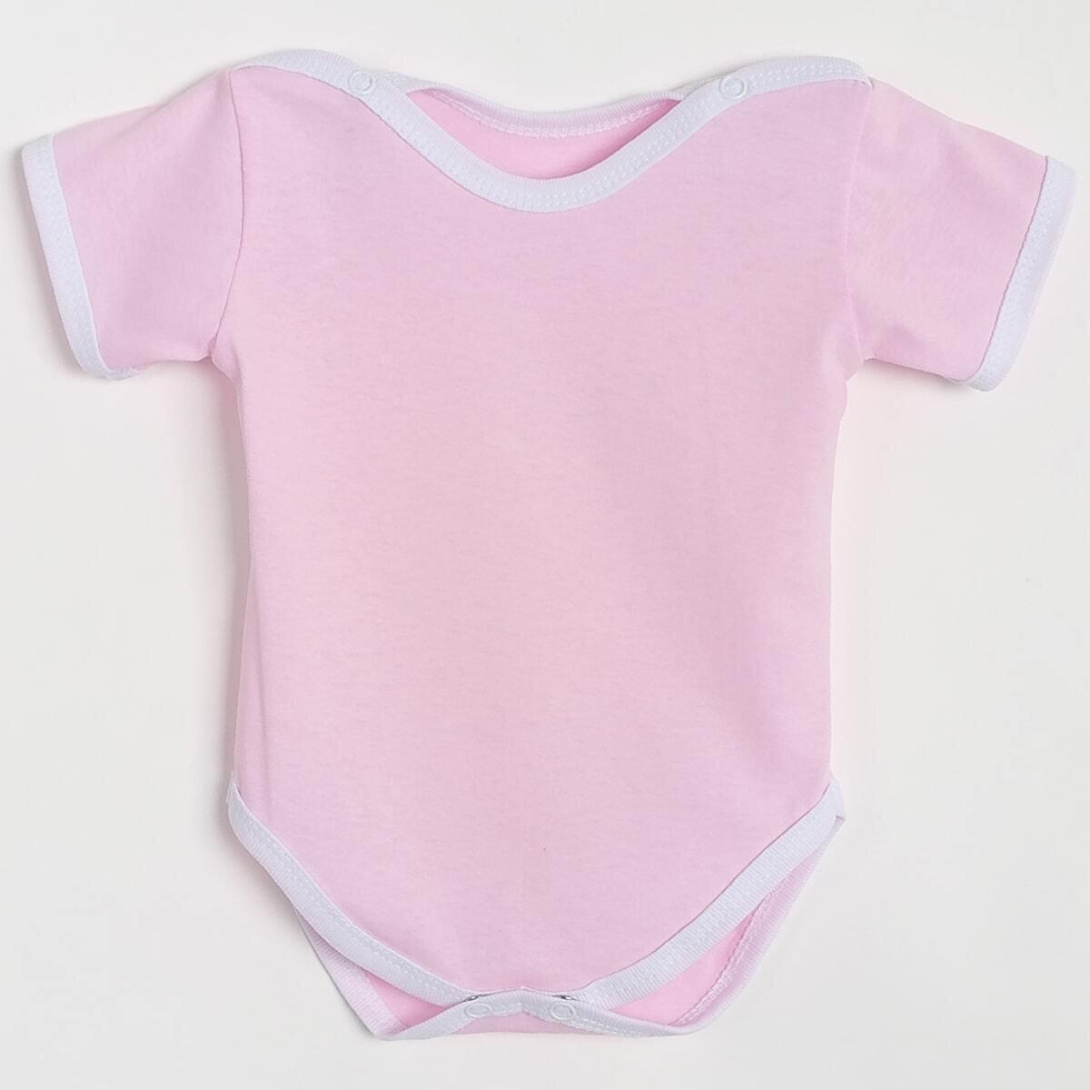 Боди Утёнок, тонкий трикотаж, розовый