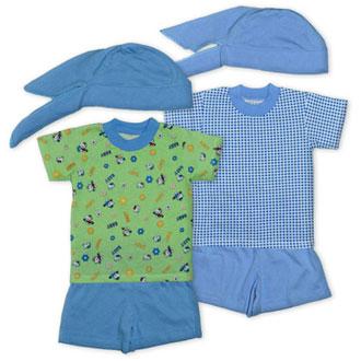 Комплект МАКС футболка + шорты + бандана, тонкий трикотаж
