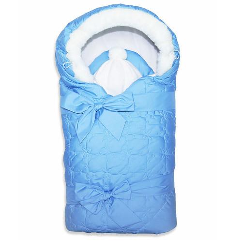 Комплект на выписку зима ЛАСКА (2 предмета), голубой