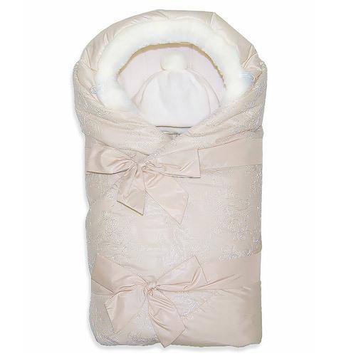 Комплект на выписку зима ПРЕЛЕСТЬ, с капюшоном, кремовый