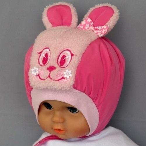 Шапочка ИВАШКА с декоративными ушками, розовый