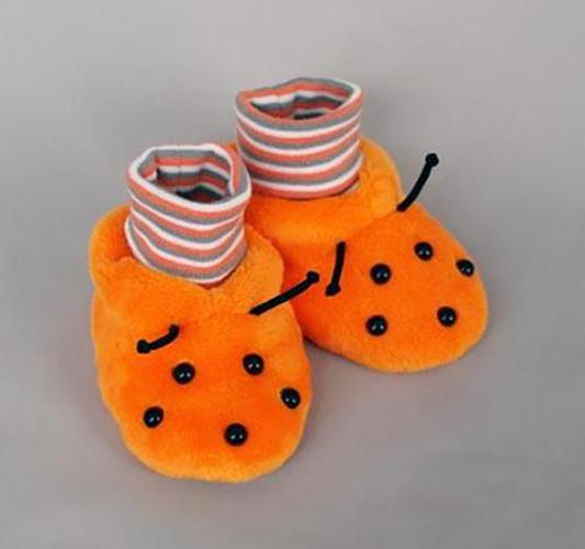 Башмачки БОЖЬЯ КОРОВКА, оранжевый