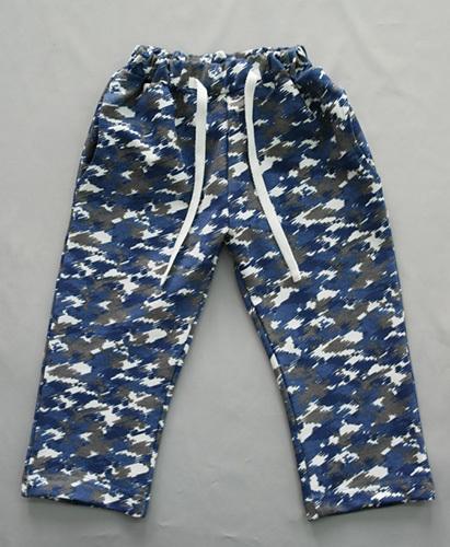 Брюки трикотажные, синий/серый