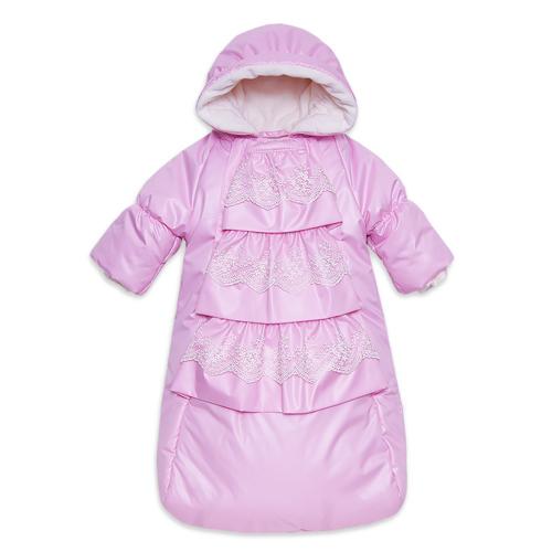 Комбинезон-мешок ФЕЯ демисезонный, розовый, с отверстием для автокресла
