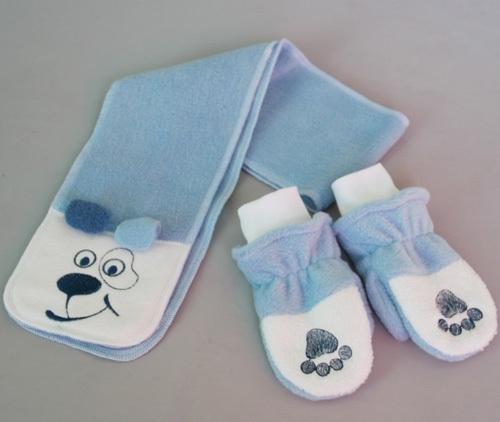 Комплект СОБАЧКА, шарфик и рукавички