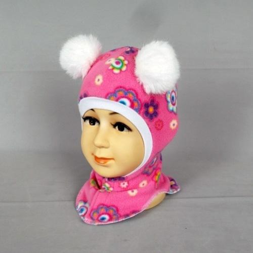 Шапочка-шлем для девочки ВИВИ, розовый