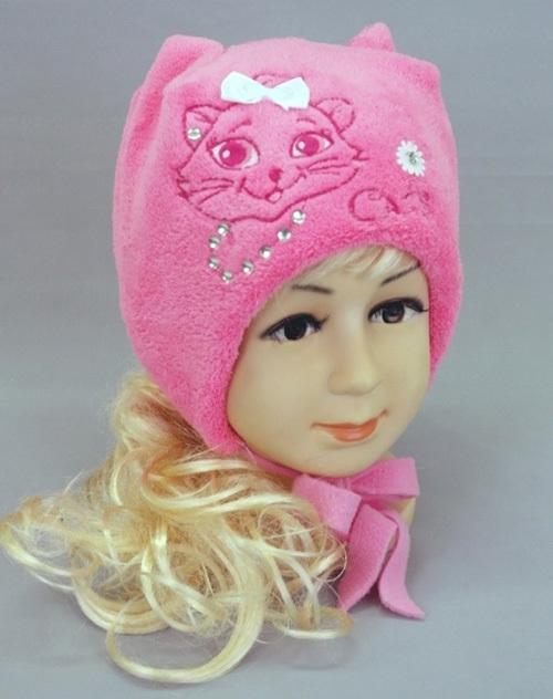 Шапочка для девочки МУРОЧКА, розовый