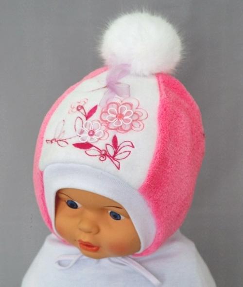 Шапочка для девочки МАЛИНКА, розовый