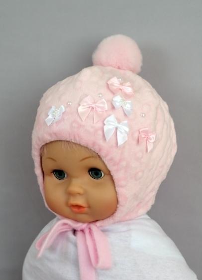 Шапочка для девочки МОНИКА, розовый