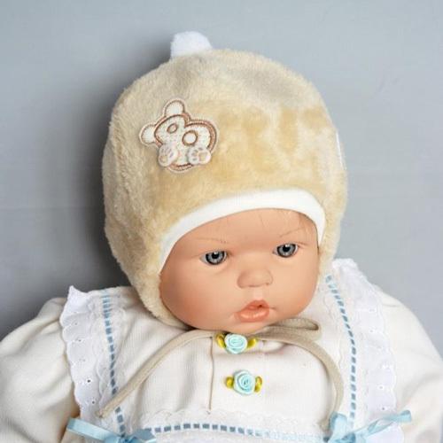 Шапочка для новорожденного ДЕТКА М, бежевый