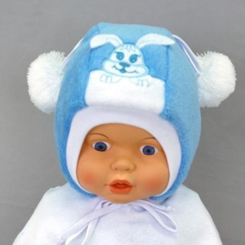 Шапочка для мальчика ХВАСТУНИШКА, голубой