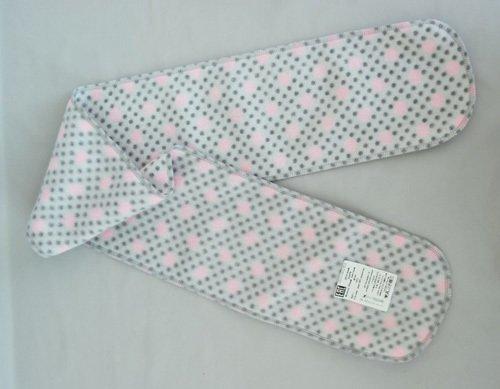 Шарфик флисовый ГОРОШЕК, розовый