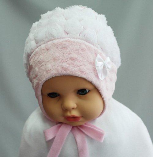 Шапочка для девочки ПАУЛИНКА, розовый