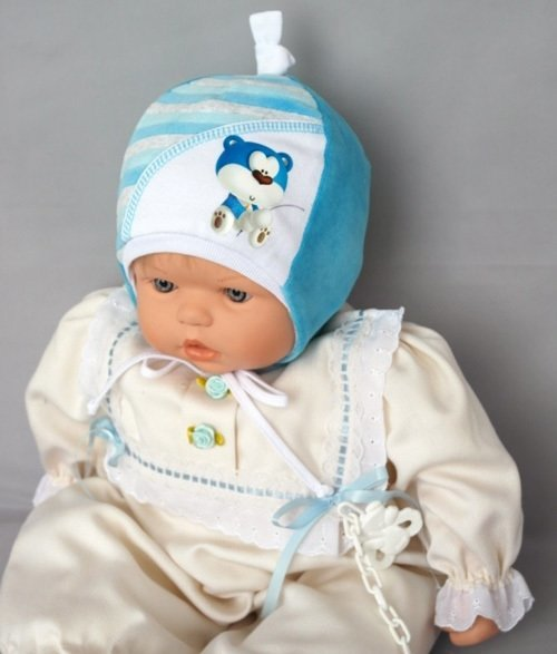 Шапочка КУРНОСИК, голубой