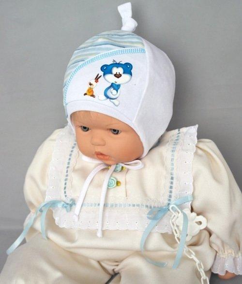 Шапочка КУРНОСИК, светло-голубой
