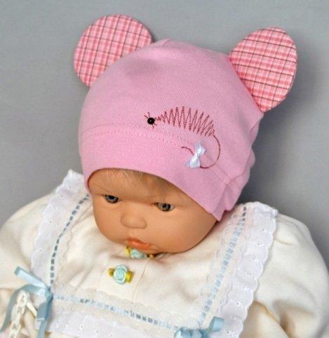 Шапочка Маус, розовый