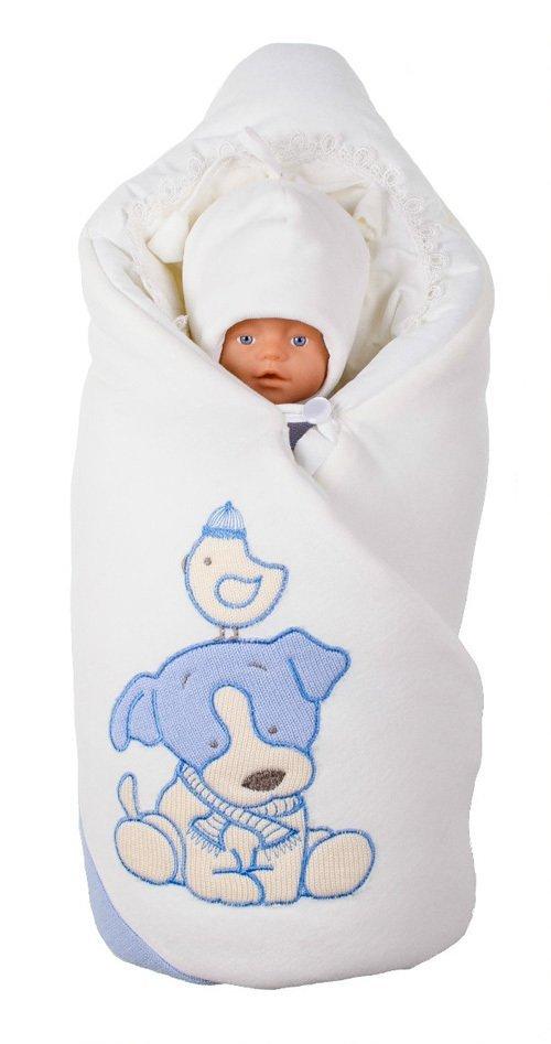 Комплект на выписку LITTLE PUPPY (зима/деми), голубой