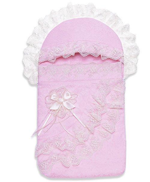 Комплект на выписку СКАЗКА, лето, розовый