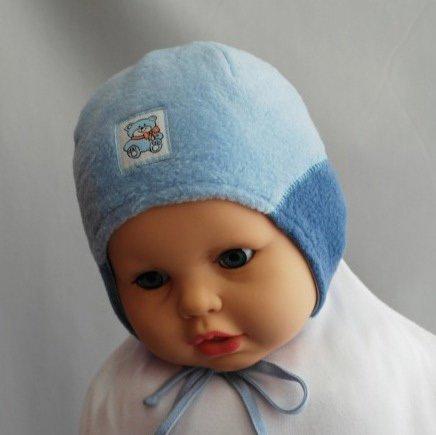 Шапочка для мальчика БЕБИ, сине-голубой