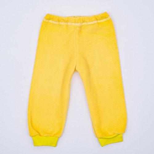 Штанишки на манжетах, флис, желтый