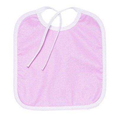 Нагрудник из клеенки на завязке, розовый