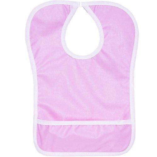 Нагрудник на липе с карманом, розовый