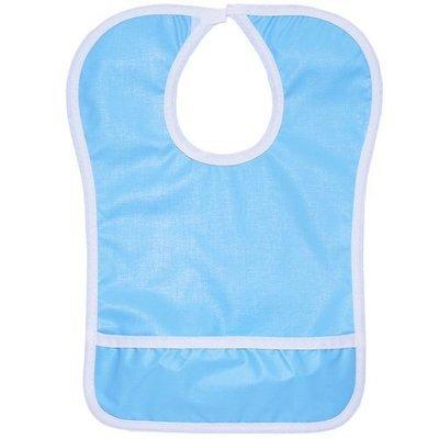 Нагрудник на липе с карманом, голубой