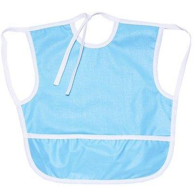 Нагрудник с карманом большой, голубой
