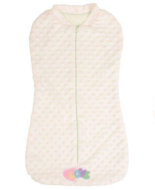 Спальный мешок-кокон, вельбоа, молочный