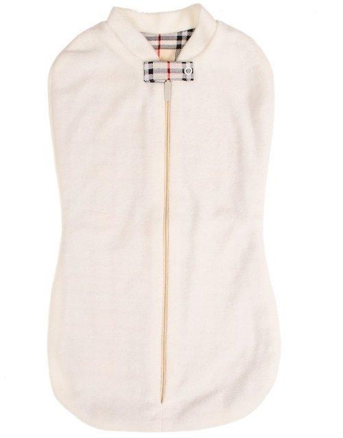 Спальный мешок-кокон, флис, молочный