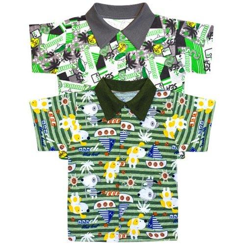 Рубашка на кнопочках МАКСИМ, тонкий трикотаж