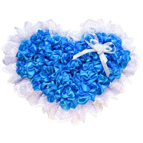 Бант нарядный на выписку (атлас) 15см, лента 2м, голубой