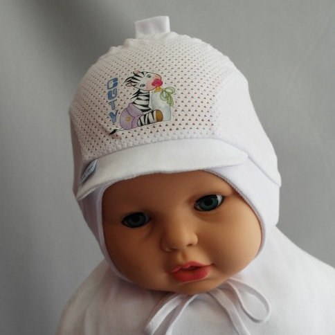 Летняя шапочка для мальчика ВАНЕЧКА, белый
